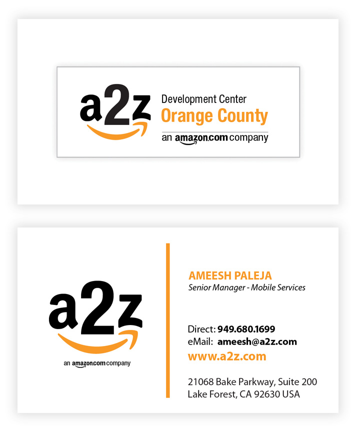 A2z amazon mana branding business cards double sided colourmoves