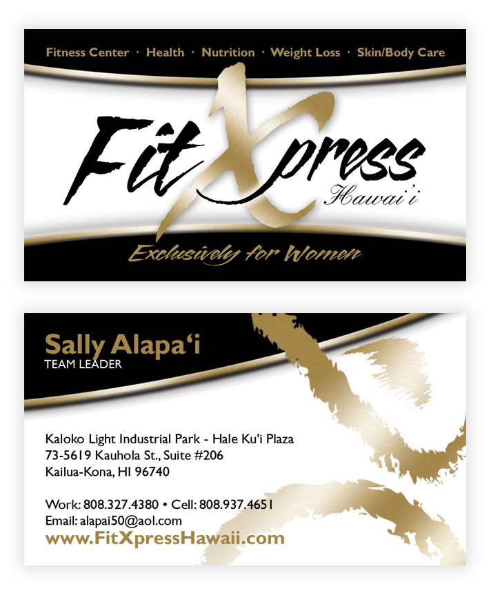 Fit xpress mana branding business cards double sided reheart Images